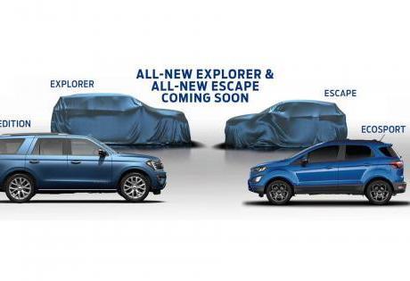 Novos SUVs da Ford tem teasers divulgados