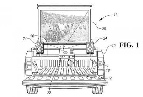 Cinema Móvel em Picapes? A Ford Cria Patente para um Inusitado Cinema