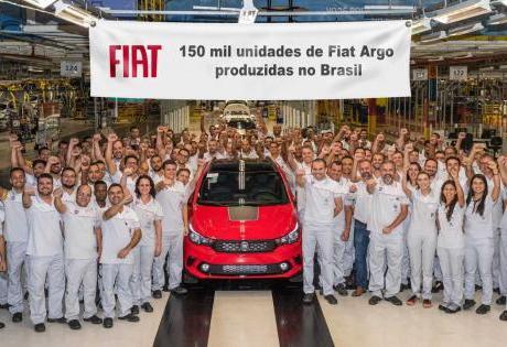 Alcance de 150 Mil Unidades do Fiat Argo Produzidos no Brasil