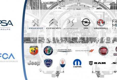 Fusão entre Fiat-Chrysler e PSA irá manter todas as 13 Marcas