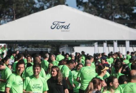 Na primeira edição da Ford Run são arrecadados 650kg de alimentos