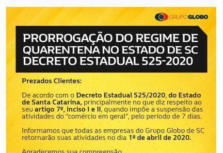 Retorno das atividades da Globo Renault devido ao Coronavirus