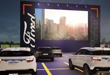 Se Adaptando a Pandemia a Ford faz Drive-In com Filmes e Jogos da Libertadores