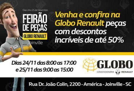 Feirão de Peças Globo Renault - Joinville
