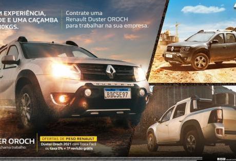 Campanha Tá Contratado! para Master e Duster Oroch é Lançada pela Renault
