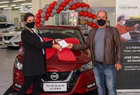 Ganhador final do Novo Nissan Versa