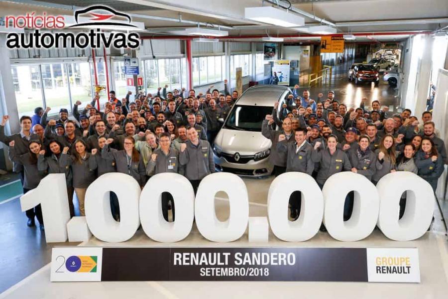 Sandero chega a 1 milhão de unidades fabricadas no Brasil
