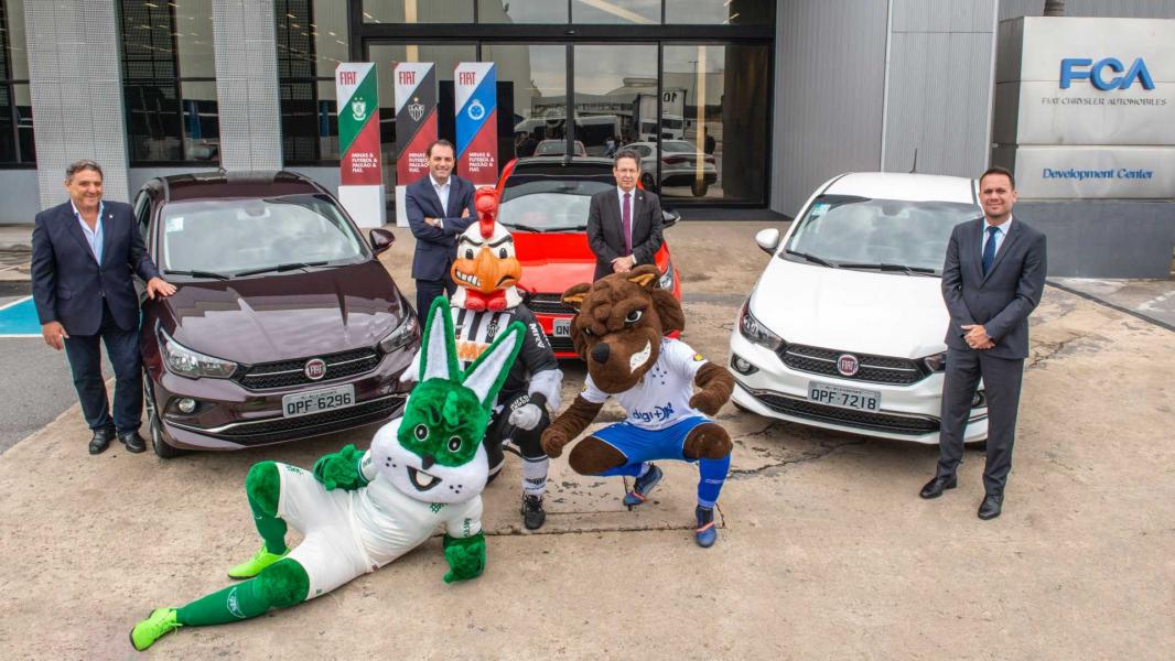 América, Atlético e Cruzeiro volta a receber patrocínio da Fiat