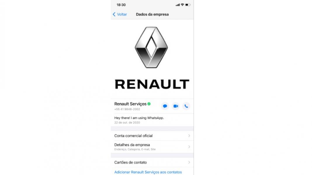 Agendamento Online pelo WhatsApp no Brasil Agora Renault é a Primeira Montadora a Disponibilizar ess