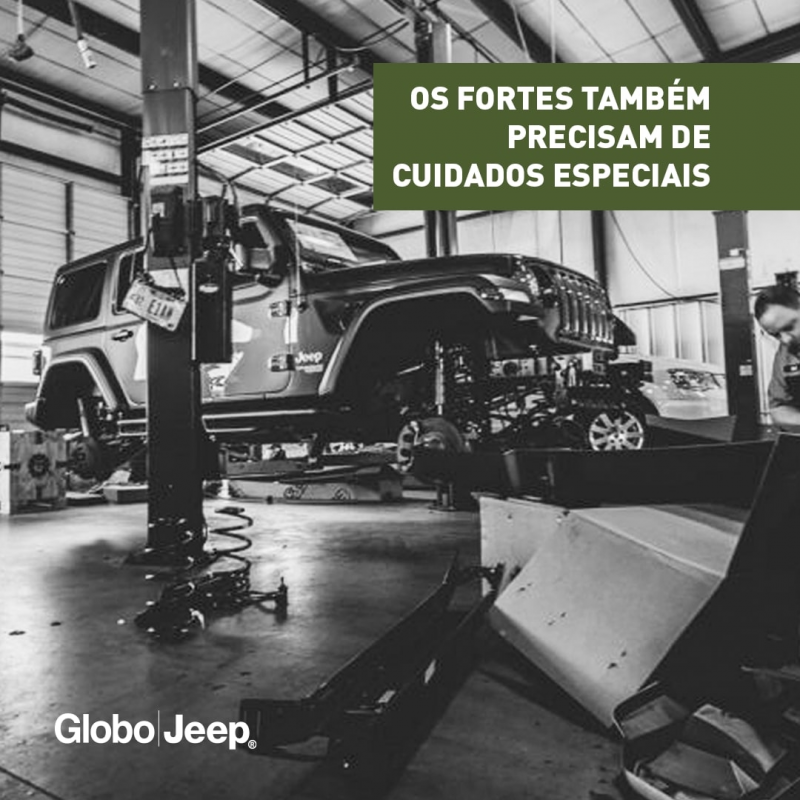 Nas concessionárias Globo Jeep pode ficar tranquilo com seu automóvel