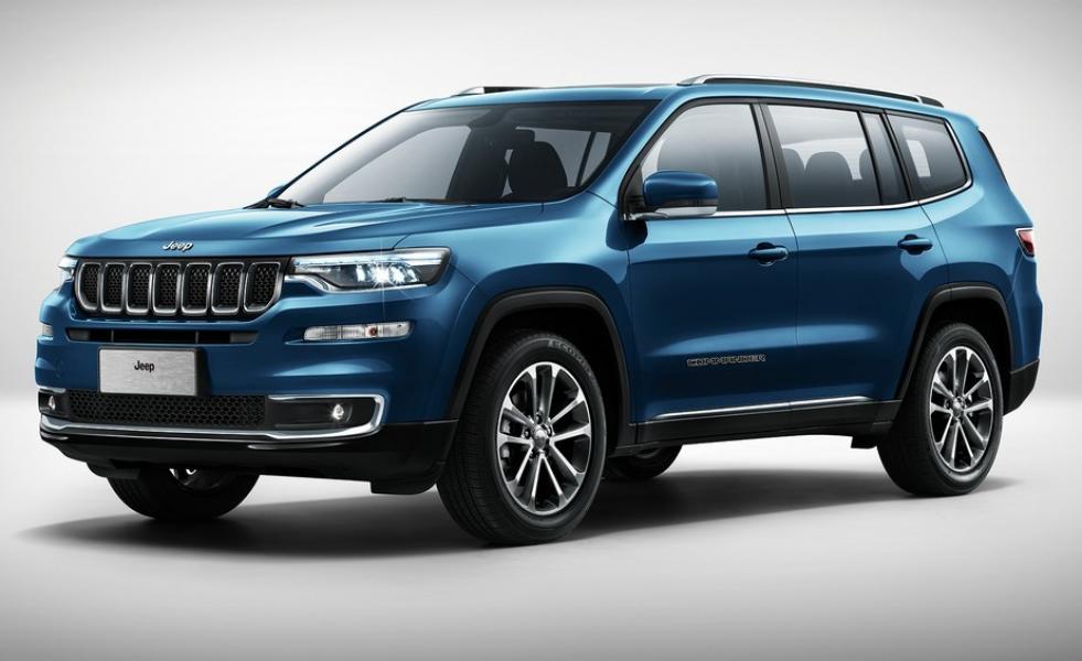 Jeep mostra primeiro teaser com 7 lugares