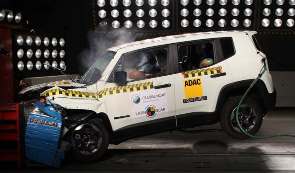 Jeep Renegade recebe 5 estrelas do Latin NCAP